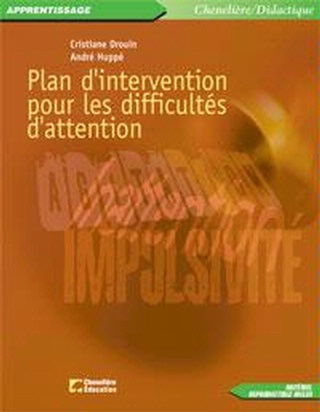 Plan d'intervention pour les difficultés d'attention